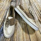 Sperry Top Sider Womans Size 9 White Canvas Boat Shoes