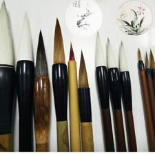 12 PCs Art Tool Calligraphy Pen Chinese Painting Set Writing Brush Brushwork