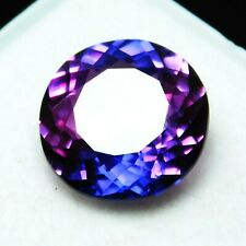 Extremely Rare Natural Purple Tanzanite 7 Ct Round AAA+ Certified Loose Gem