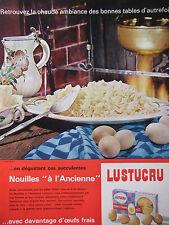 PUBLICITÉ DE PRESSE 1964 NOUILLES A L'ANCIENNE AUX OEUFS FRAIS - ADVERTISING