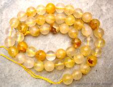 "GOLD YELLOW QUARTZ Round Large 8mm gemstone Beads 16""strand - Gorgeous color"