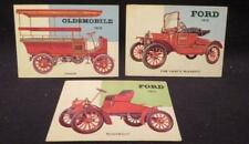 TOPPS 1954 World on Wheels 3 Different Trade Cards 2 Ford 1 Oldsmobile