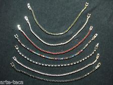 stock 20 bracciali tennis strass moda swaroski cristallo 1 filo rivendi affare