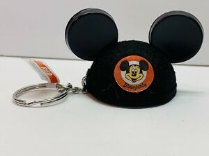Disney Parks Disneyland Resort Mickey Mouse Felt Black Ear Hat Keyring Keychain