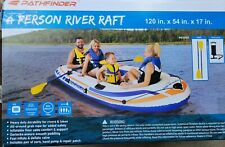 4 PERSON RIVER LAKE WATER RAFT PATHFINDER Oars Hand Pump included Free shipping