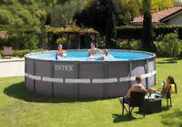 Intex 28324 Piscina Ultra Frame Rotonda 488 x 122 cm Pompa Sabbia Completa