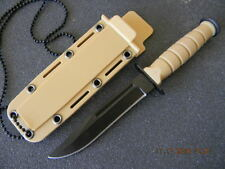 """6"""" Mini Combat Neck / Boot  Knife With Necklace Bowie Type Blade"""