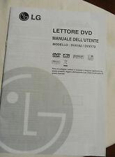 Manuale Istruzioni Lettore dvd LG_ DvX162_DvX172 ITALIANO