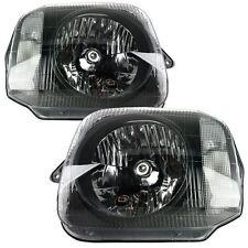 Suzuki Jimny 1998-2016 Black Headlights Headlamps Pair Left And Right