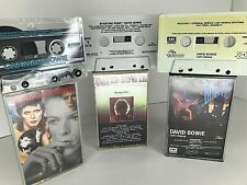 Lot Of 3 VTG David Bowie Cassette Tapes Let's Dance Starting Point Changesbowie
