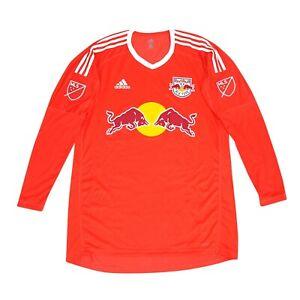 New York Red Bulls MLS Adidas Men's Bright Red Long Sleeve Goalkeeper Jersey