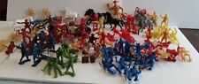 Mixed Lot Vintage Plastic Cowboys/Indians/Military/Horses Many colors&sizes