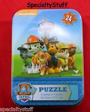 "NEW nickelodeon PAW PATROL 24 PC 5"" x 7"" PUZZLE IN COLLECTOR TIN (PQ)"