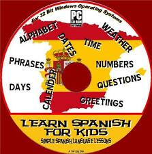 SPANISH FOR KIDS EASY CHILDRENS LANGUAGE LESSONS INTERACTIVE CD ROM SOFTWARE NEW