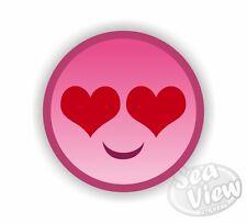 Rosa Carita Feliz Heart Girl coche van Sticker Calcomanía De Pegatinas Divertidas pegatina