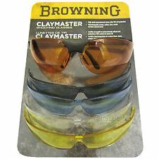 Browning Shotgun Shooting Glasses - 5 Interchangeable Lenses - Clay Pigeon/Field