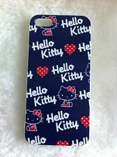 Hello Kitty Dark Blue Printed iPhone 5 5s Case for Apple