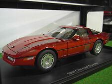 Chevrolet Corvette 1986 Rosso Autoart 1 18 Aa71241 Miniature