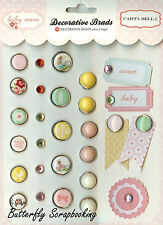 Scrapbooking Brads Baby Girl Collection Carta Balla Paper Co. 28 pieces New