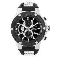 Invicta Men's Watch Speedway Chrono Black Dial TT Silicone and Steel Strap 22400