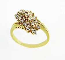 14KT YELLOW GOLD DAZZLING!! LADIES  WATERFALL RING WITH  DIAMONDS   WF50R