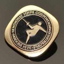 Fencing, 1974 World Modern Pentathlon Championship Moscow Soviet  Pin Badge