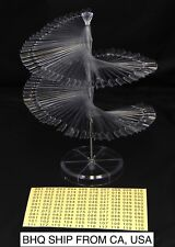 120 Pcs Nail Tips Sticks Display Stand Spiral Display for UV Gel Polish - Clear