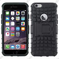 """Coque Housse Etui Anti Choc Armor Outdoor Bequille Noir Apple iPhone 6 4,7"""""""