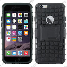 Coque Housse Etui Anti Choc Armor Outdoor Bequille Noir Apple iPhone 6 4,7""