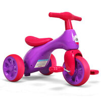 2 in 1 Kids Tricycle Balance Training Bike Ride on Toy Bike3 Wheels Pink