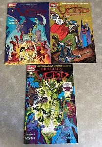 Dracula Vlad The Impaler 1 2 3 1-3 Topps Comics Full Run Set Lot