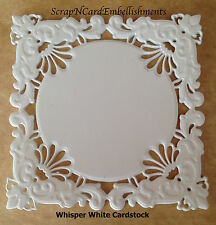 • • • Die Cuts ~ Embossed SQUARE Mats x4 ~ 2 Colours ~ Stampin Up C/S ~ Cards