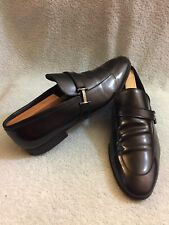 Z Zegna Black Leather Loafer Made In Italy  Size EU 9 US 10