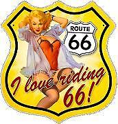 Route 66 Pin-up Sticker Decal vinyl car laptop or window sticker decal