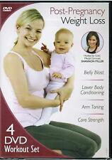 Post Pregnancy Weight Loss 4 Disc Workout Set Shannon Miller 2012 Exercise DVD
