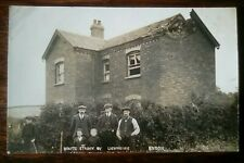 Endon House Struck by Lightning Staffordshire Real Photo Social History Postcard