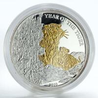 Rwanda 1000 francs 2009 Zodiac  Aries Gold Silver diamonds 3 oz  COA
