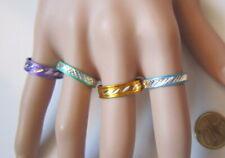 Lote 4 anillos aluminio colores nº 9 ó 18 mm diámetro medio bisutería r-44