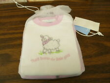 Elegant baby garment set 6 mon fashion set.Pink Thank Heaven for little girls