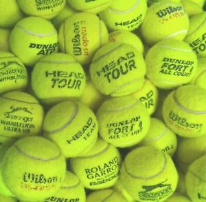 15 or 30 Used Tennis Balls ~Wilson, Dunlop, Slazenger, Etc~ FANTASTIC CONDITION