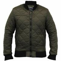 Seven Series Mens Jacket Coat Harrington Padded Quilted Bomber Lined UK 4XL