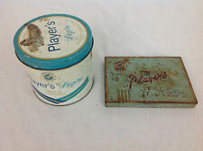 Vintage Player's Navy Cut Cigarettes metal tins