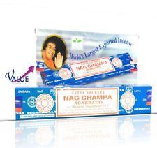 Satya Nag Champa Incense Stick Sai Baba 12 pack x 15g agrabathi GENUINE
