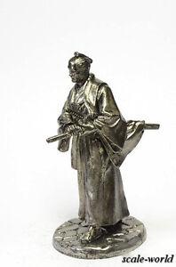 Tin soldier, figure. the samurai of the Muromachi period, 1333-1573 132 54 mm