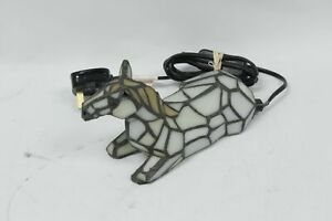 UNBRANDED Tiffany Stained Glass Table Lamp Horse Design 15W - SA9