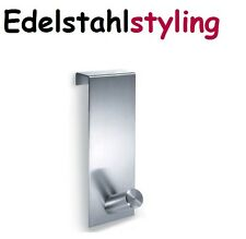 Zack 20723 Türhaken EXIT Edelstahl matt Handtuchhalter Garderobe 16 bis 19 mm