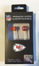 Kansas City Chiefs iHip Premium Audio Earphones Earbuds - iPhone iPod NEW