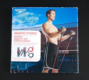 "Speedo Aqua Fit 360"" Stretch Bands Resistance Band Set Yoga Pilates Abs Exercise"