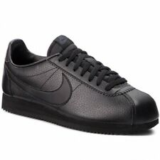 Nike Cortez Mens Trainers UK Size 9 Black Classic Leather Shoes