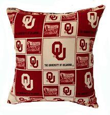 Sooners NCAA Pillow Oklahoma University Pillow Handmade In USA